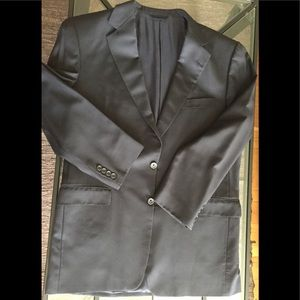 Burberry Black Blazer 43 Long Wool Sport Jacket